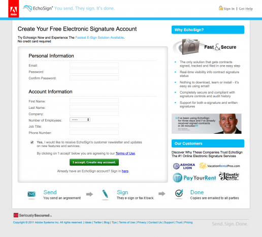 adobe-echosign-create-your-free-account-landing-page