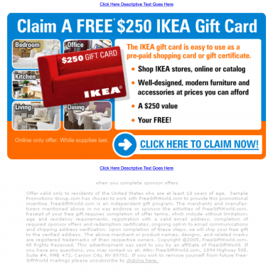 """Project Detail View: Landing Page for Adteractive """"Claim A Free $250 ..."""