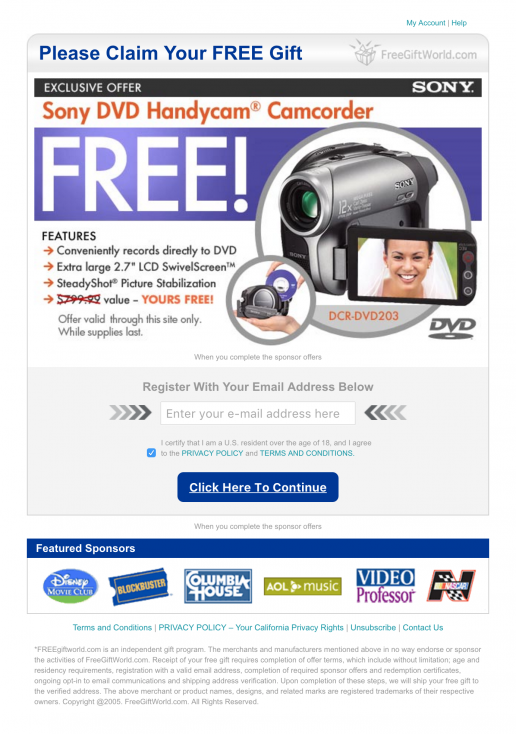 adteractive-landing-page-fgw-free-sony-dvd-camcorder