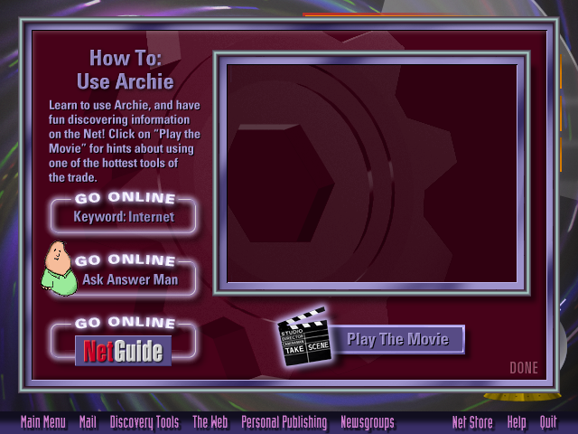 AOL Internet Adventure CD-ROM how-to-article Template Example