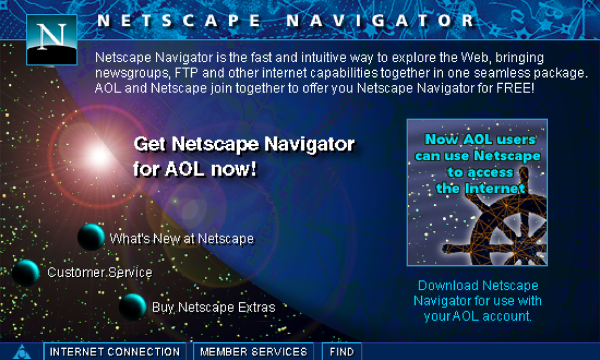 AOL Netscape Navigator Screen