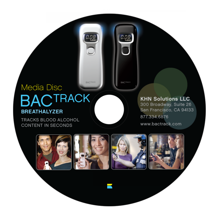 BACtrack Breathalyzer Media Disk Mockup