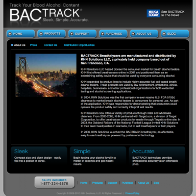 BACtrack Breathalyzers About Us Page