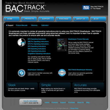 BACtrack Breathalyers Support Page