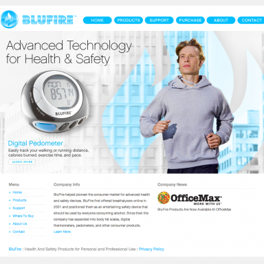 BluFire Homepage - version 1