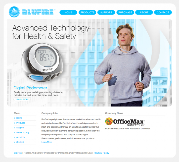 BluFire homepage animation frame 3