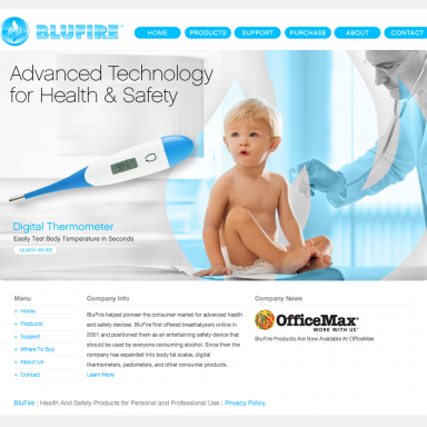 BluFire Homepage - version 2