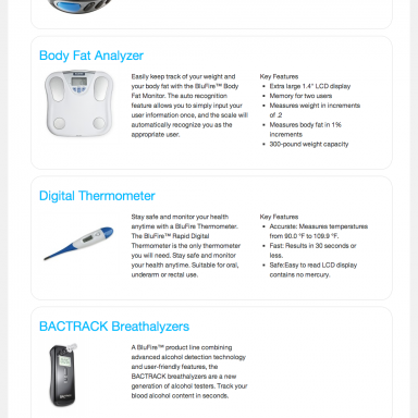 BluFire Products Page