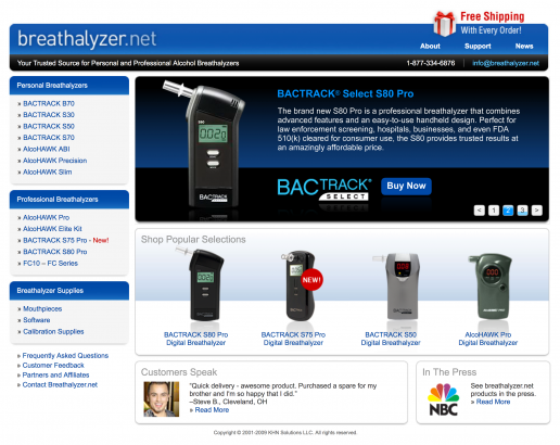 breathalyzer-net-home-page-design