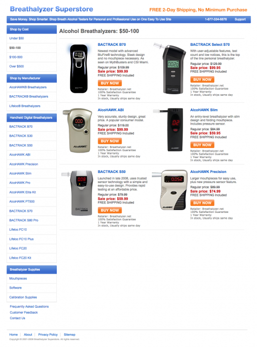 breathalzyersuperstore-affiliate-website-price-category-page