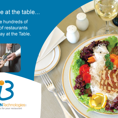 "Brillian ""Pay At The Table"" Postcard Mailer Front"