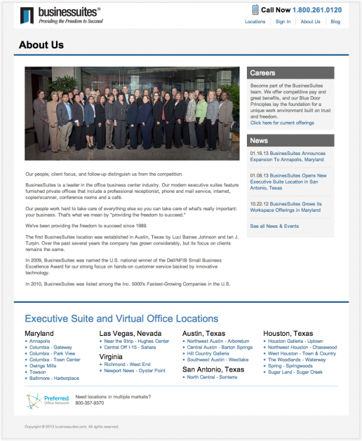 BusinesSuites About Us Page