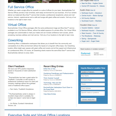 BusinesSuites Homepage