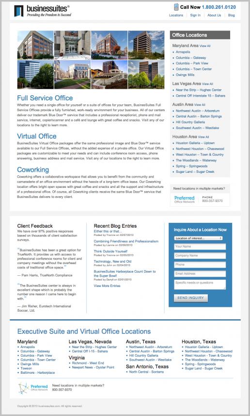 BusinesSuites Homepage