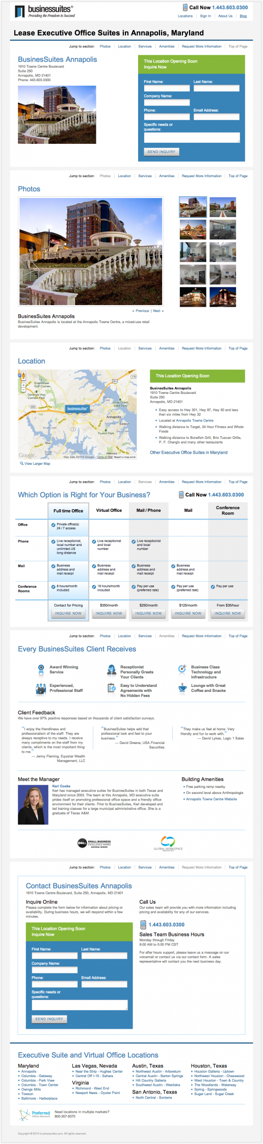 BusinesSuites Property Available Soon Page – example 2