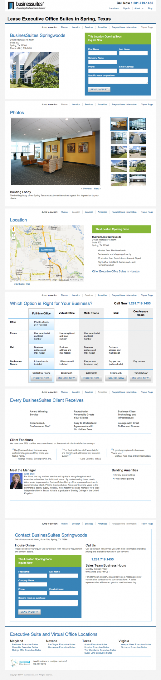 BusinesSuites Property Available Soon Page – example 1