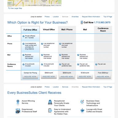 BusinesSuites Property Detail Page - example 1