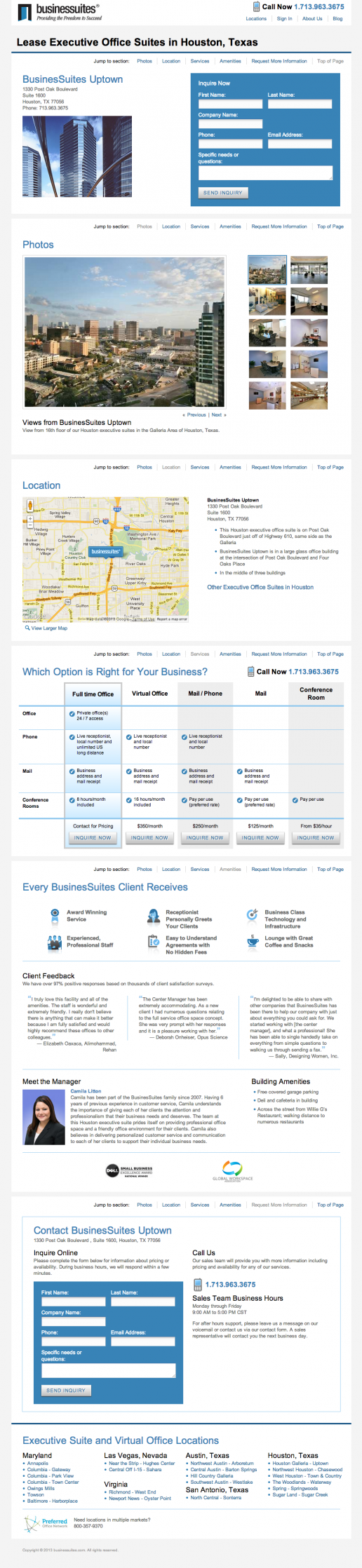 BusinesSuites Property Detail Page – example 1