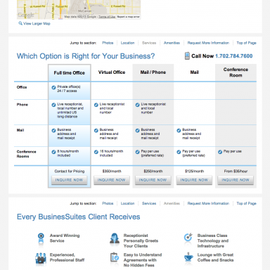 BusinesSuites Property Detail Page - example 2