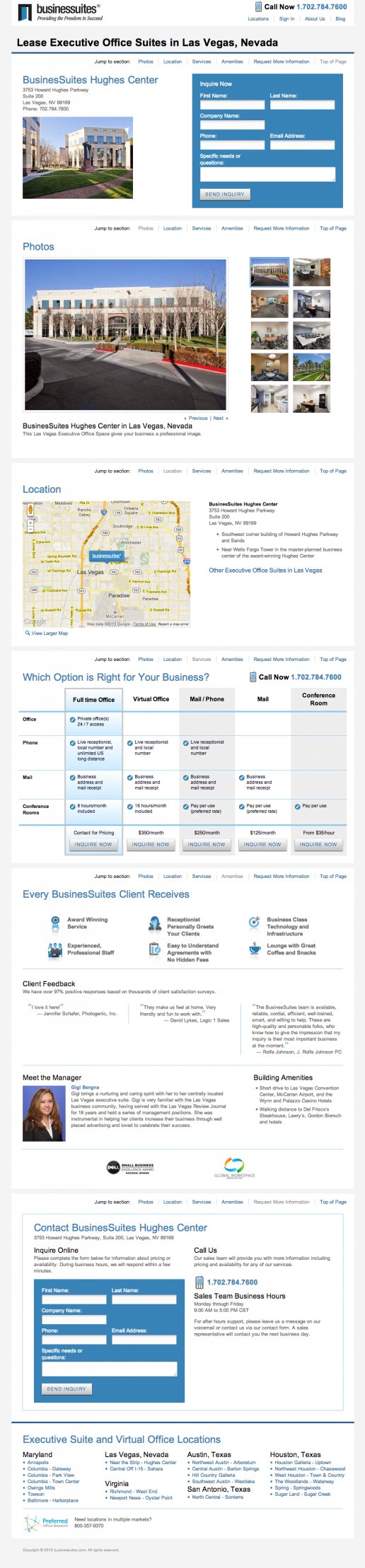 BusinesSuites Property Detail Page – example 2