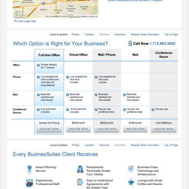 BusinesSuites Property Detail Page - example 3
