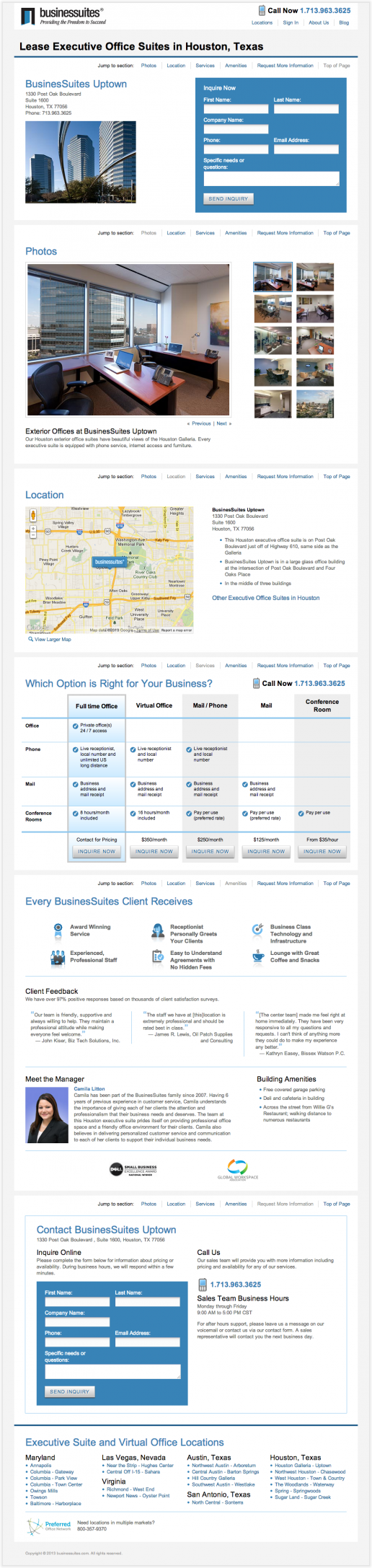 BusinesSuites Property Detail Page – example 3