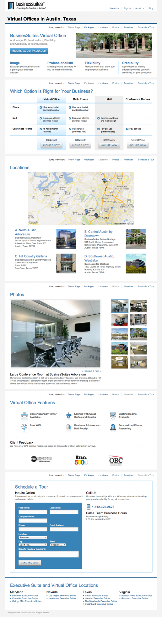 BusinesSuites Virtual Offices Page – version 2