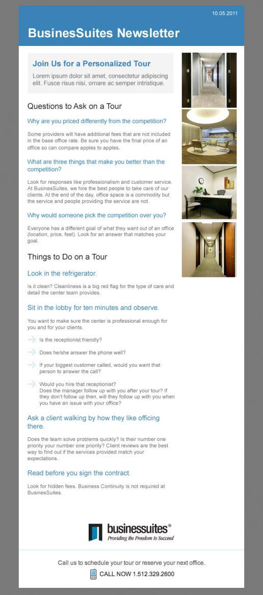 BusinesSuites Prospective Client Email - version 2
