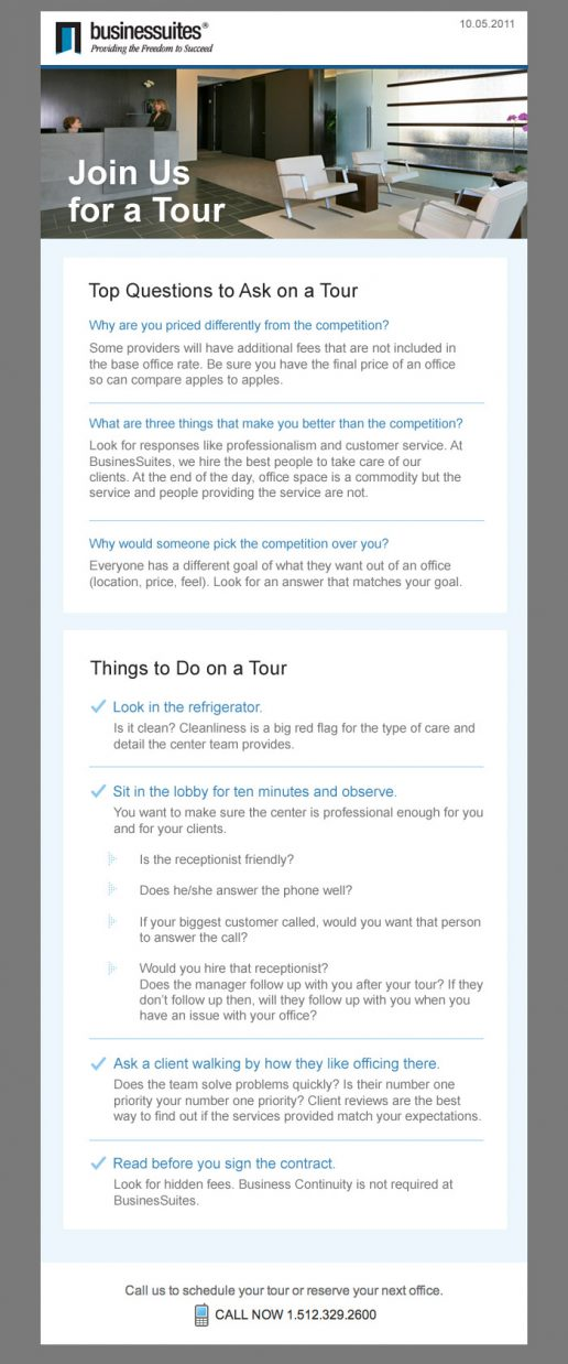 BusinesSuites Prospective Client Email - version 3