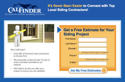 calfinder-home-siding-landing-page-mockup