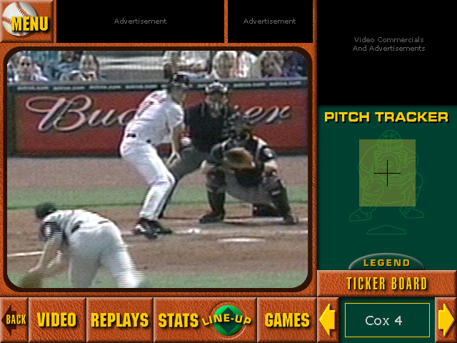 ChoiceSeat Baseball Live View With Pitch Tracker Panel