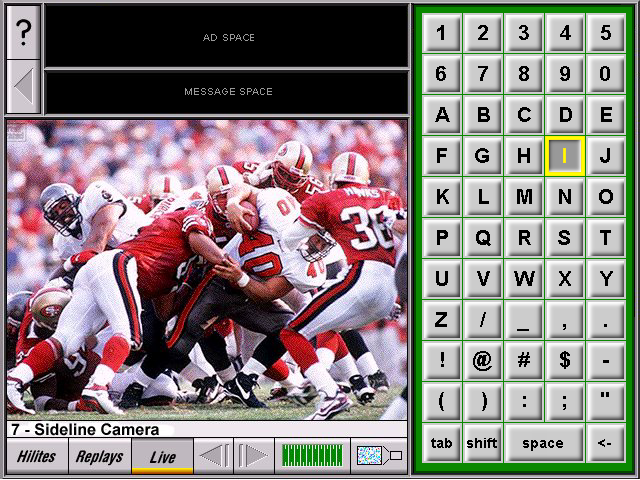 ChoiceSeats Football Interface Showing Keyboard