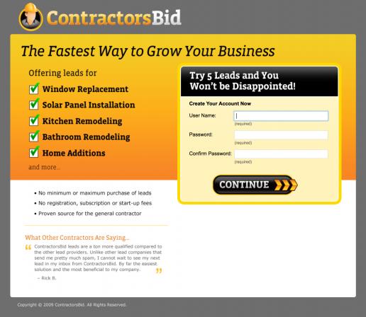 contractorsbid-landing-page