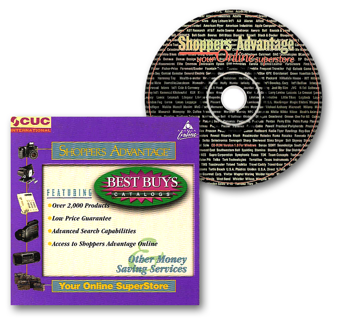 CUC Best Buys Catalogs Shoppers Advantage CD-ROM Packaging Desgin