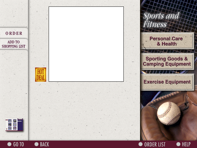 Sports And Fitness Product Template Screen Design Example