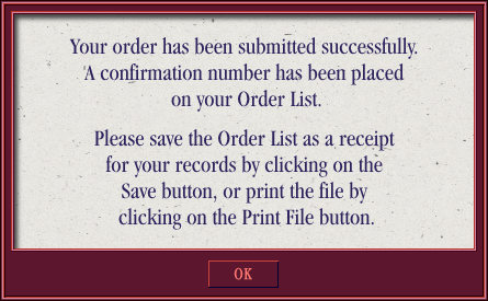 Order Submitted Modal Overlay