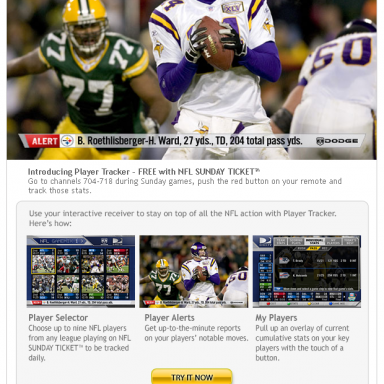 DIRECTV Plus NFL Sunday Ticket Interactive Box Email