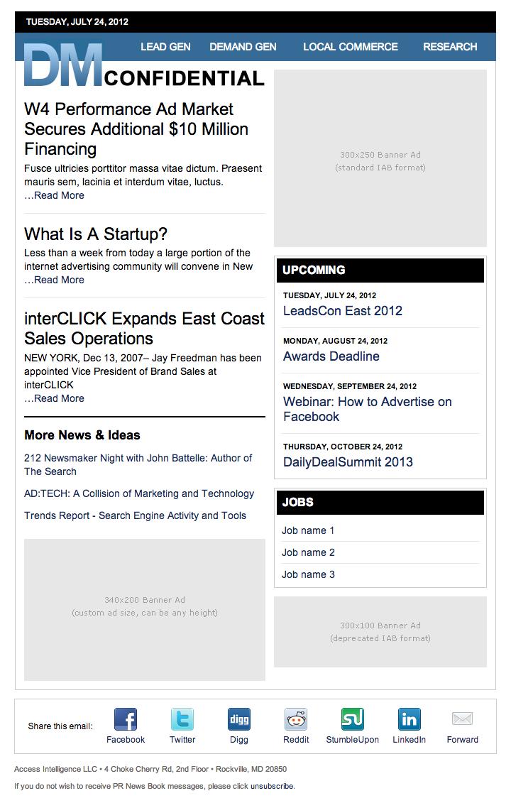 technology newsletter template