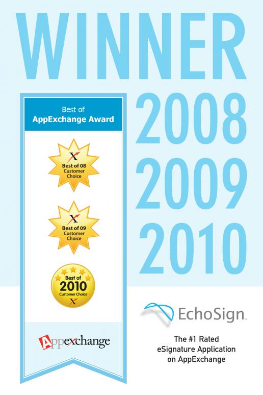 echosign-best-of-appexchange-poster