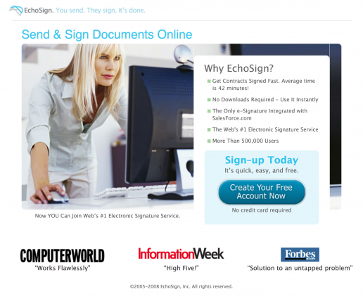 echosign-send-and-sign-documents-online-with-woman-click-through-landing-page