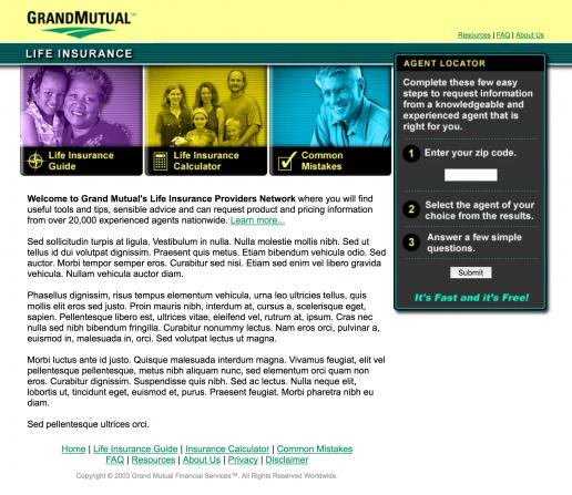grandmutual-life-insurance-agent-locator-home-page
