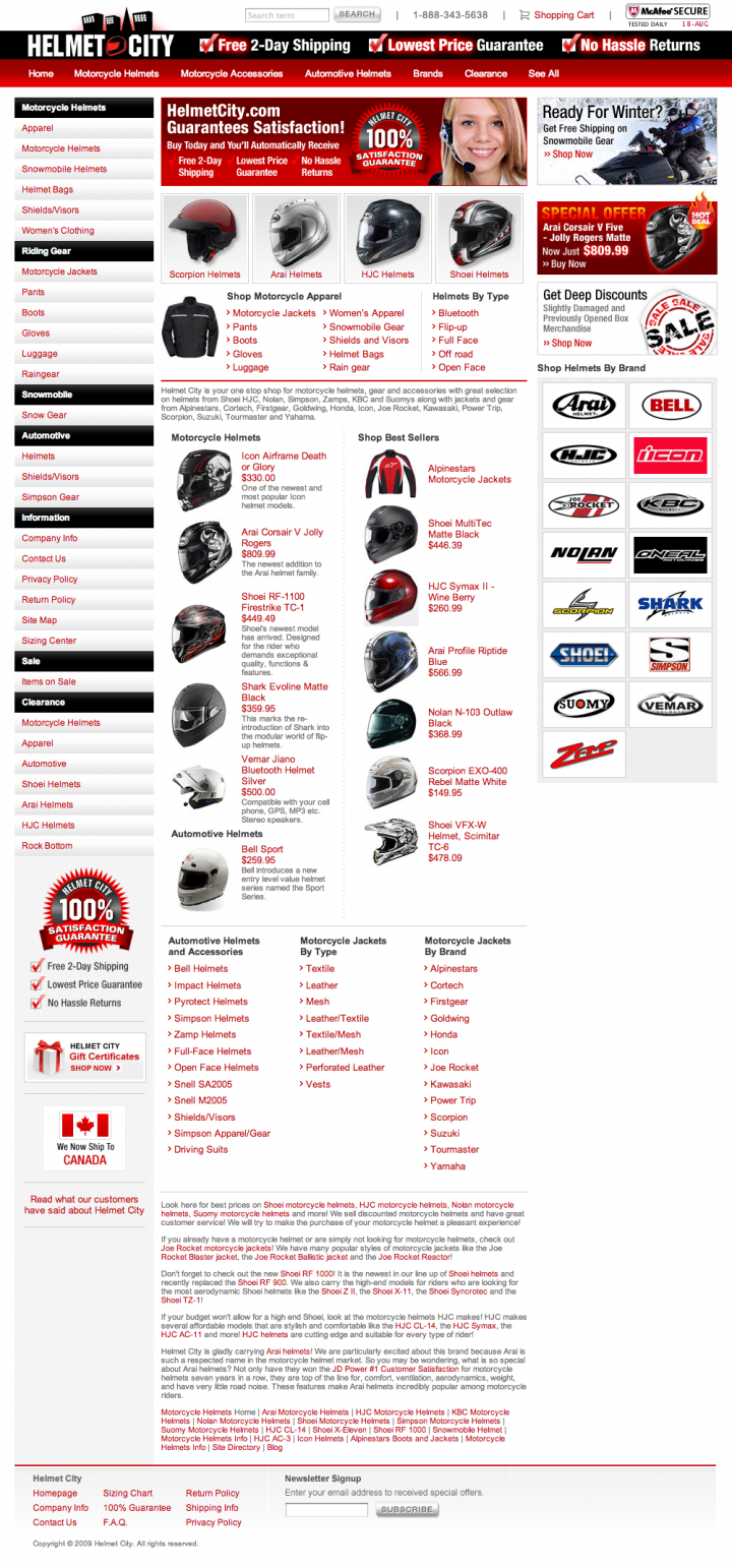 Helmet City - Homepage