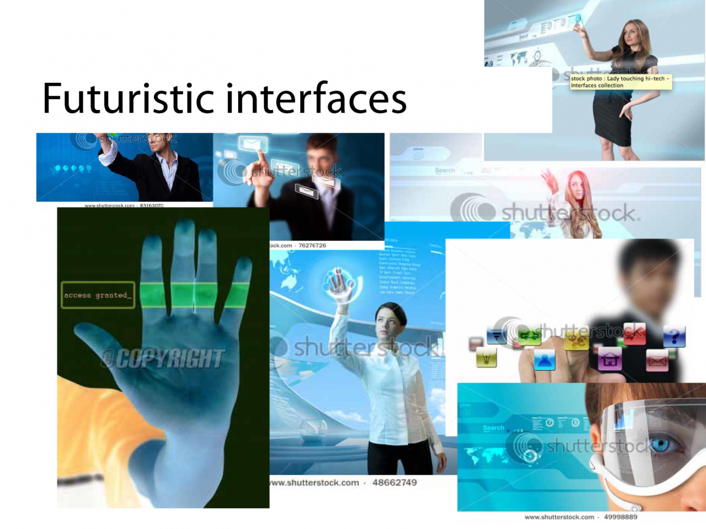 image showing futuristic interfaces