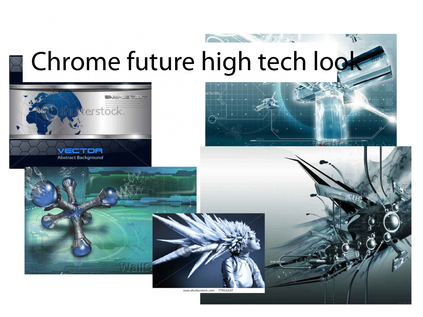 image showing chrome high tech looking images