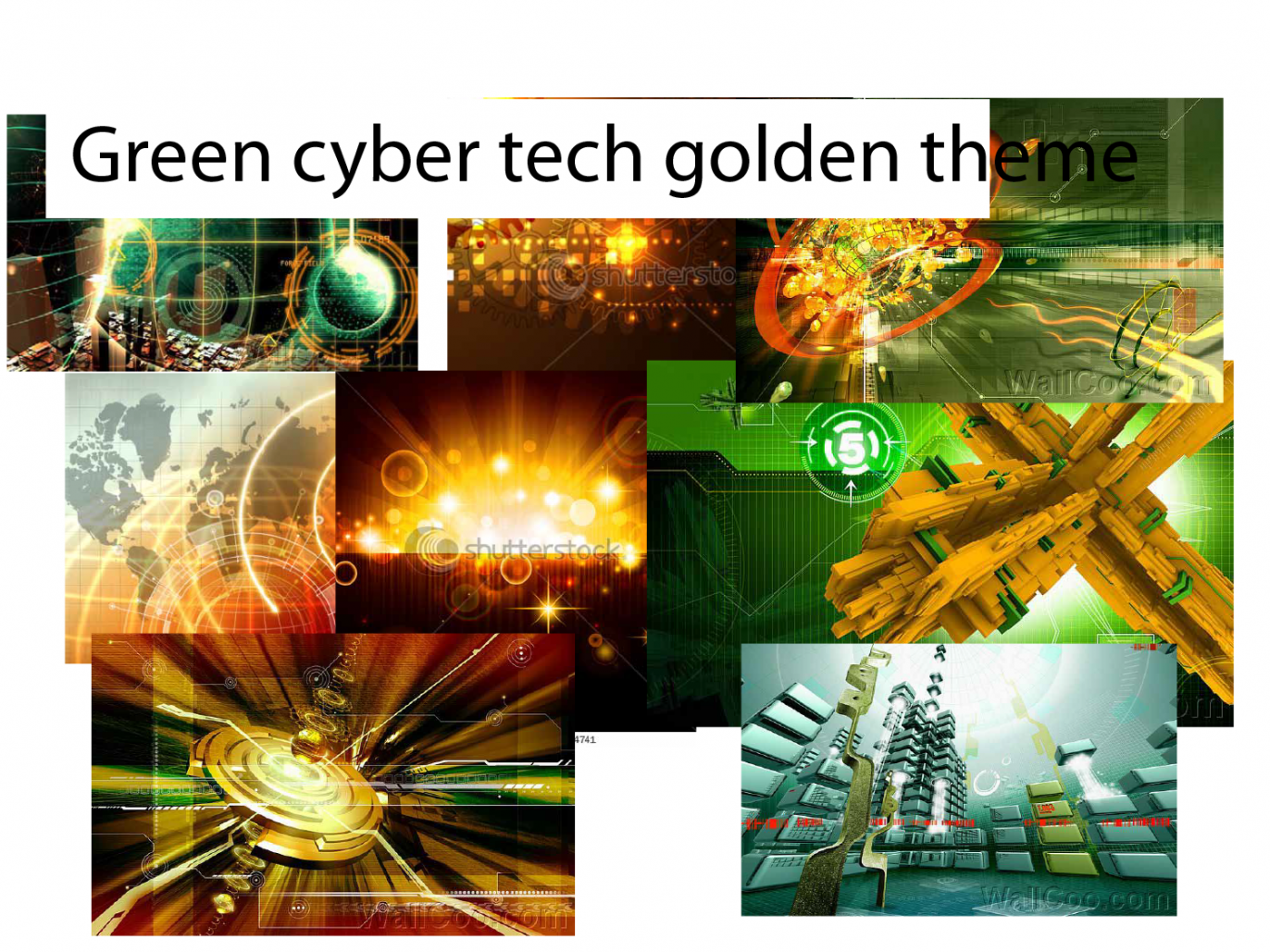 image showing green and gold cyber tech looking images