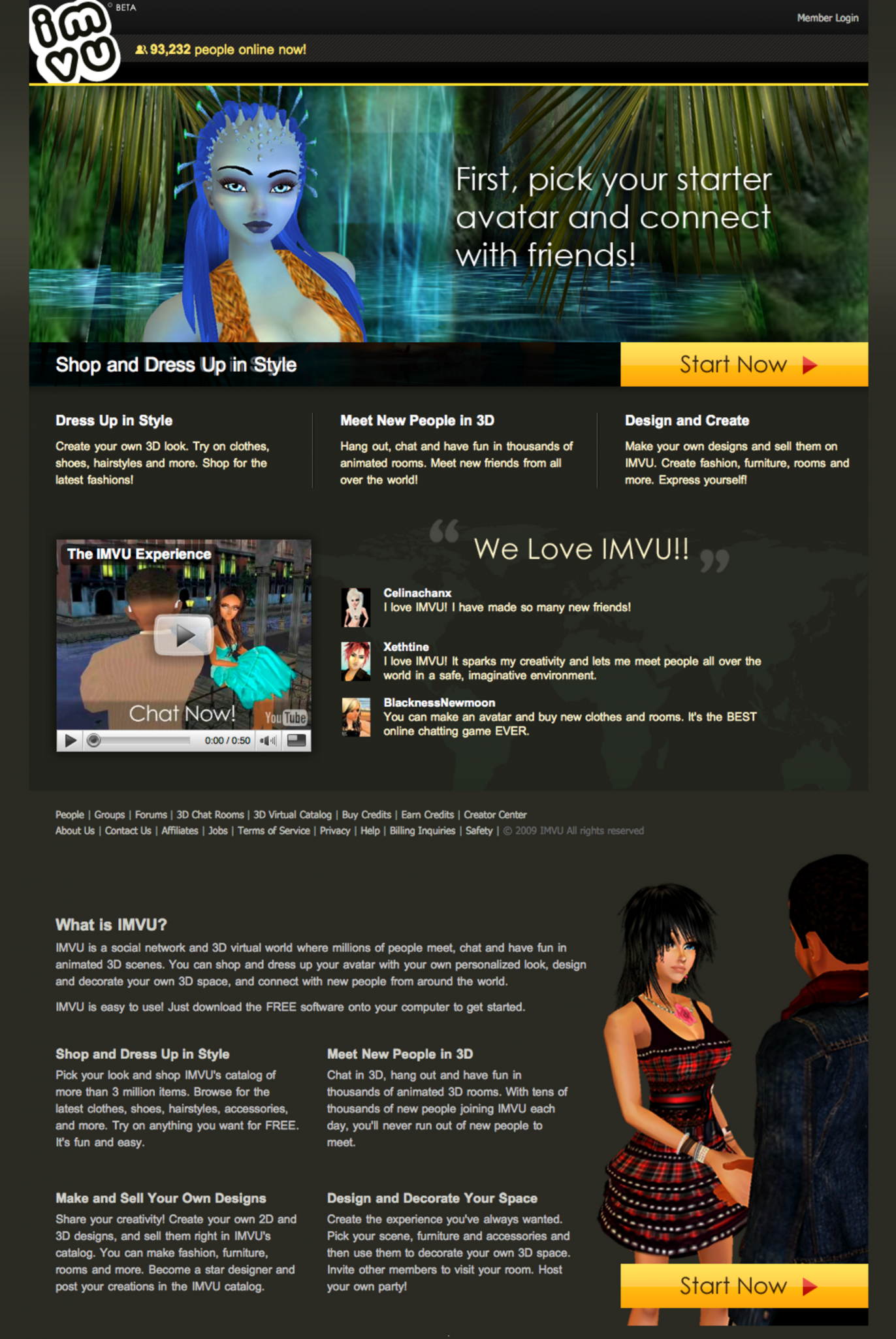 Project Detail View: Homepage Main Image Update for IMVU