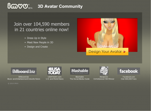 imvu-come-hither-campaign-landing-page