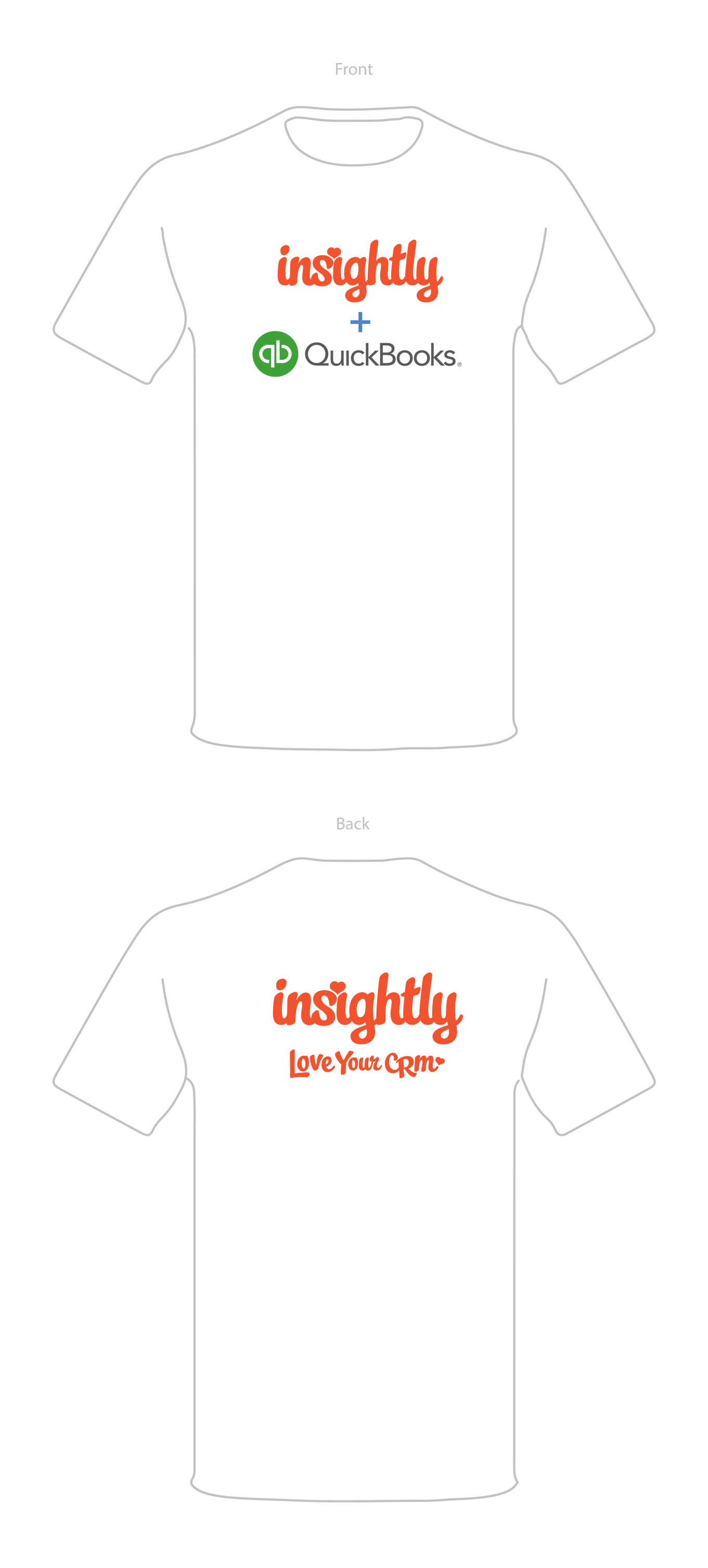 image showing what the graphics would look like on the front and back of a t-shirt