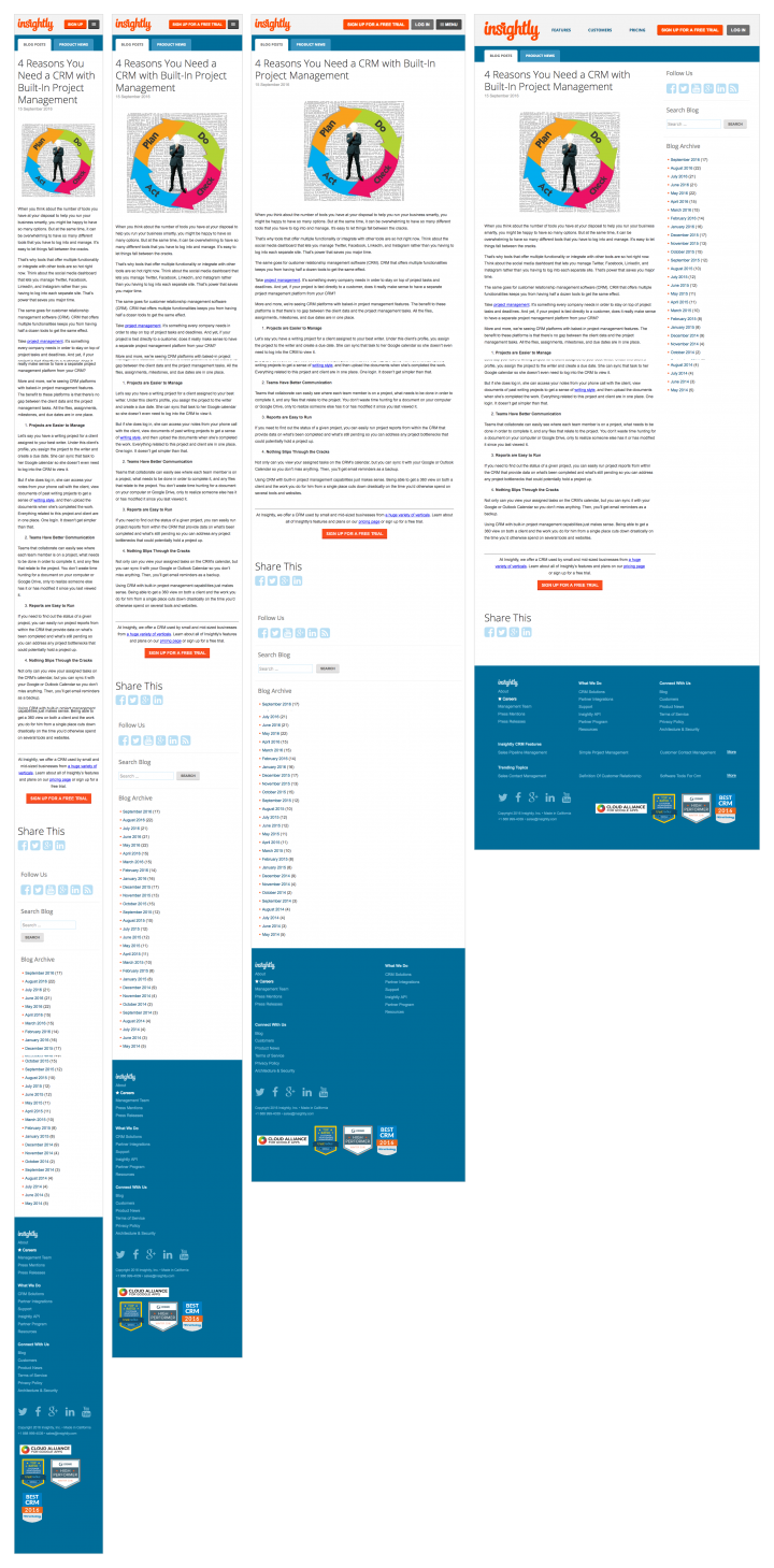 Financial article page templates