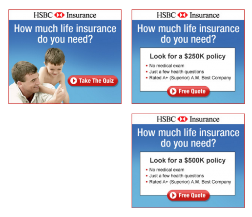 kwanzoo-hsbc-life-insurance-quiz-ad-screens